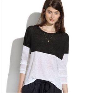 Madewell Black & White Long Sleeve T-Shirt